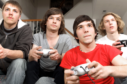 At least they're all holding the same controllers. Most of these stock pictures don't even get that right.