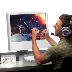 Look at this douche-nugget. So many things wrong with this picture. Hands not on keyboard, iMac gaming. No 5.1 surround sound plebeian fool.