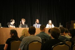 Storytime with Kotaku Panel - (Left to Right) Jason Schreier, Kirk Hamilton, Evan Narcisse, Tina Amini