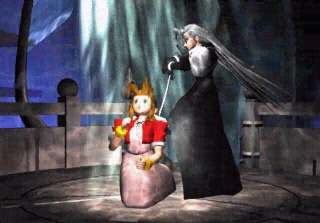 Aerith Gainsborough and Sephiroth