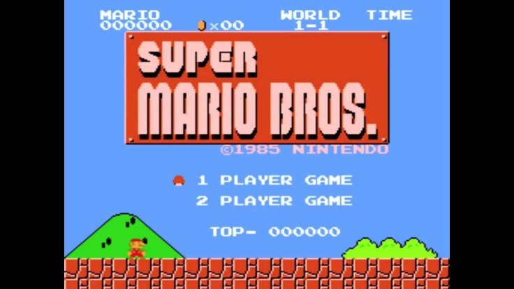 mario-bros start screen
