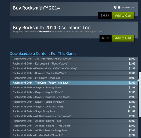 steam - rocksmith - dlc - valuation